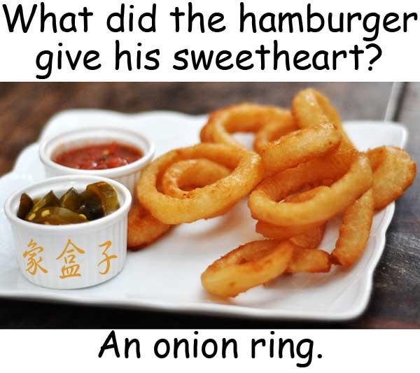 onion rings 洋葱圈 ring 戒指