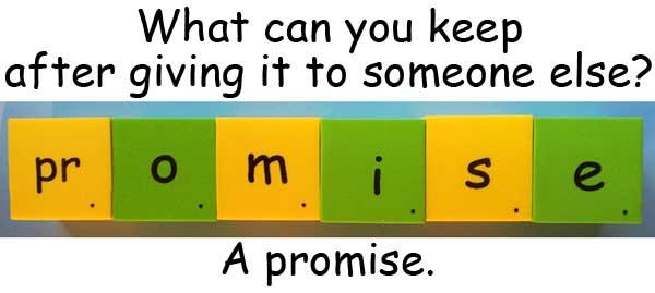 promise 承諾 諾言