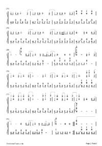 我好想你-《小時代》主題曲-EOP教學曲鋼琴譜檔(五線譜,雙手簡譜,數位譜,Midi,PDF)免費下載