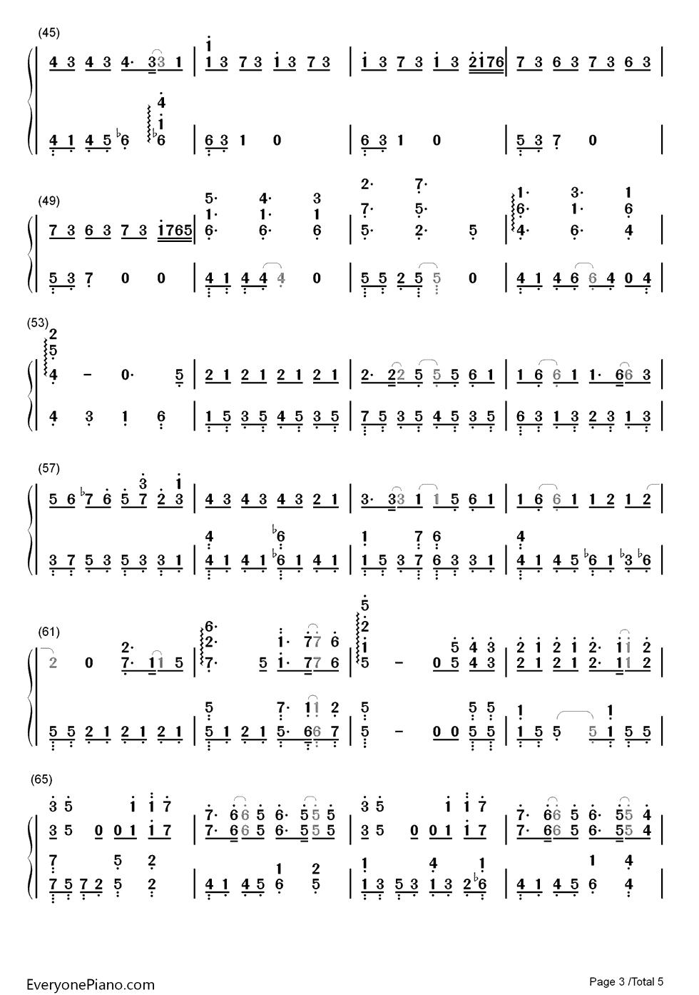 好好過-風中奇緣插曲雙手簡譜預覽-EOP線上樂譜架
