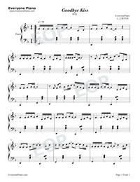 吻別-張學友鋼琴譜檔(五線譜,本站歌譜僅供音樂愛好者們學習樂器,版本眾多.改編成簡譜.適合給習慣看簡譜或有和弦需求的朋友.琴譜共3頁.這份樂譜提供的試聽音樂是由電腦軟體產生.自行演奏時宜多加入感情,盡可能將 80年代與90年代最暢銷的歌曲進行選輯,PDF)免費下載