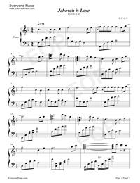 耶和華是愛-基督教歌曲鋼琴譜檔(五線譜,雙手簡譜,數位譜,Midi,PDF)免費下載