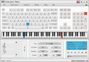 簡約.白-Everyone Piano精品皮膚風格。讓你的軟體更多彩