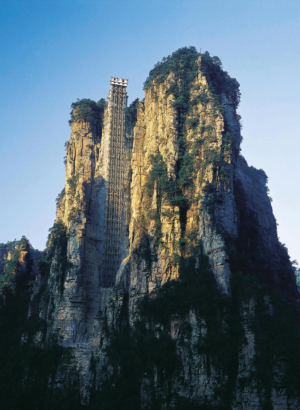 百龍觀光電梯介紹 - 圖片:迷人的張家界之百龍天梯 - 美景旅遊網