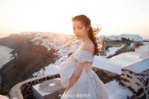 迪麗熱巴希臘婚紗照曝光!傲人上圍配天使燦笑 網讚:無可挑剔