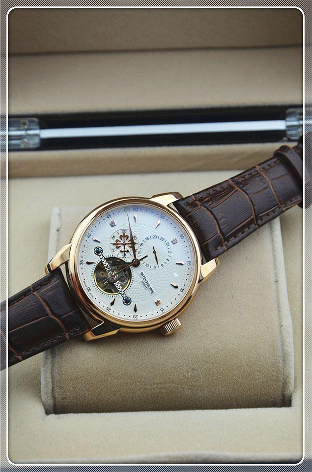 新款百達翡麗玫瑰金邊框魅力男人機械腕錶 TW手錶商城,專業為妳提供各種類型,各種顏色,各種機芯的高仿名錶