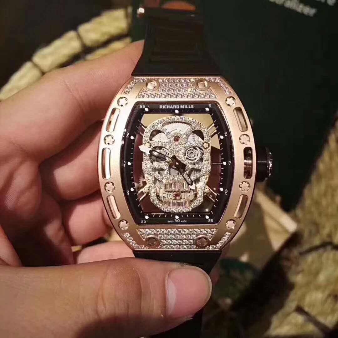 RICHARD MILLE理查德米勒 RM52-01鏤空骷髏頭腕錶
