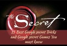 15 Best Google secret Tricks and Google secret Games You must know
