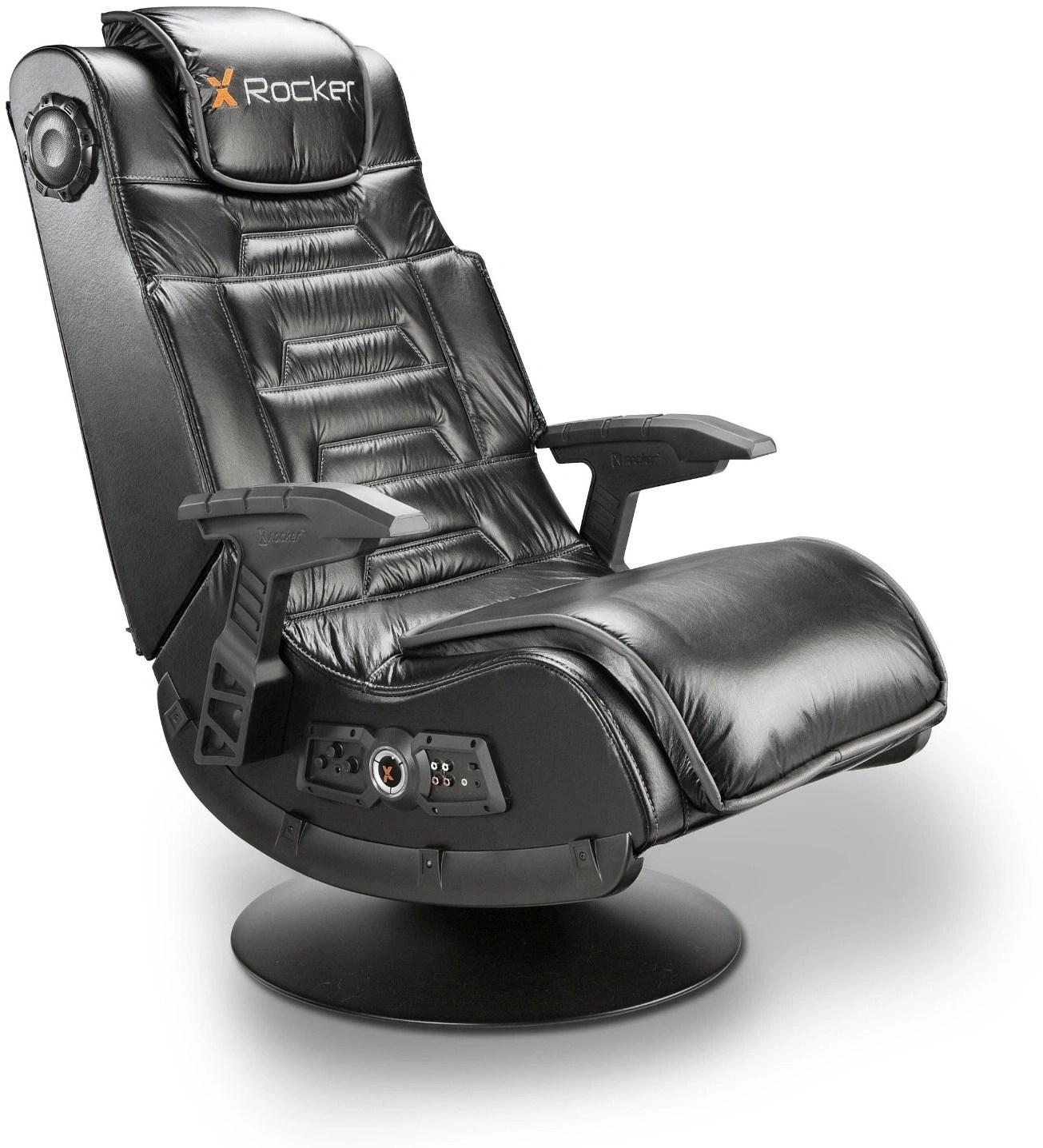 X Rocker Pro Series Pedestal 2 1 Video Gaming Chair