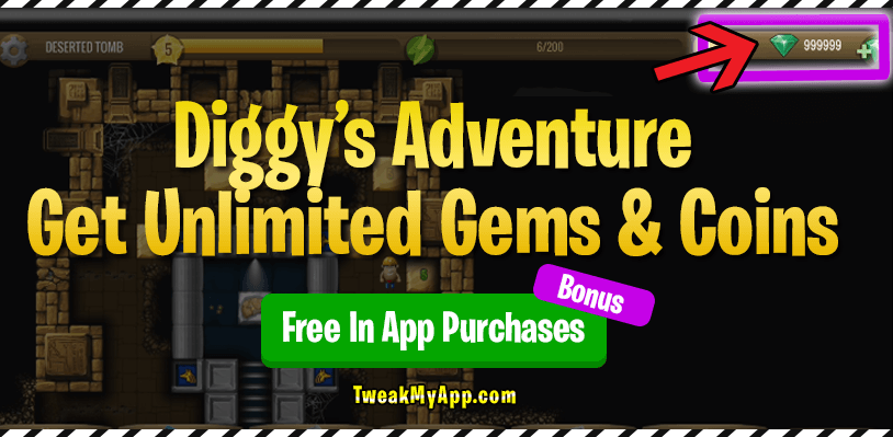 Diggy's Adventure Get Unlimited coins and gems online generator