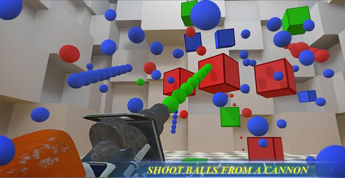 RGBalls – Cannon Fire : Shooting ball game 3D poster