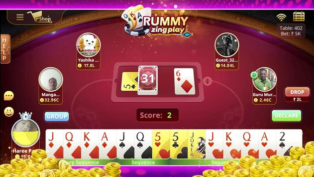 Rummy ZingPlay! Free Online Card Game poster