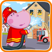 Fireman for kids icon