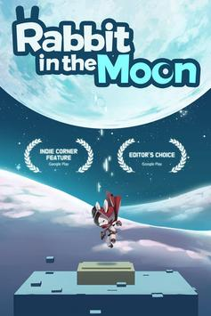 Rabbit in the moon poster