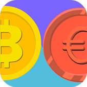 Win Bitcoins for free with Euro VS Bitcoin icon
