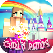 Girls Theme Park Craft: Water Slide Fun Park Games icon