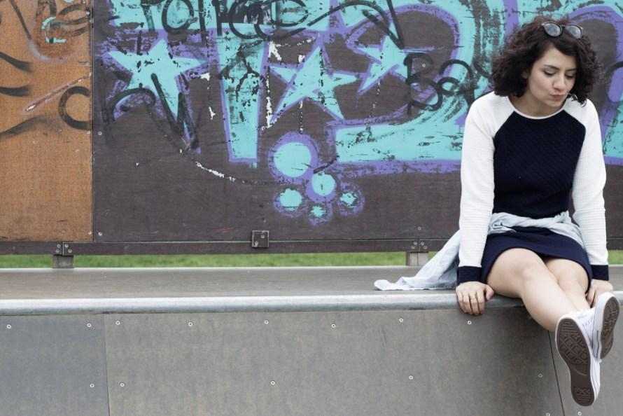 A-Linienkleid Mila mit Raglanärmel by Tweed & Greet