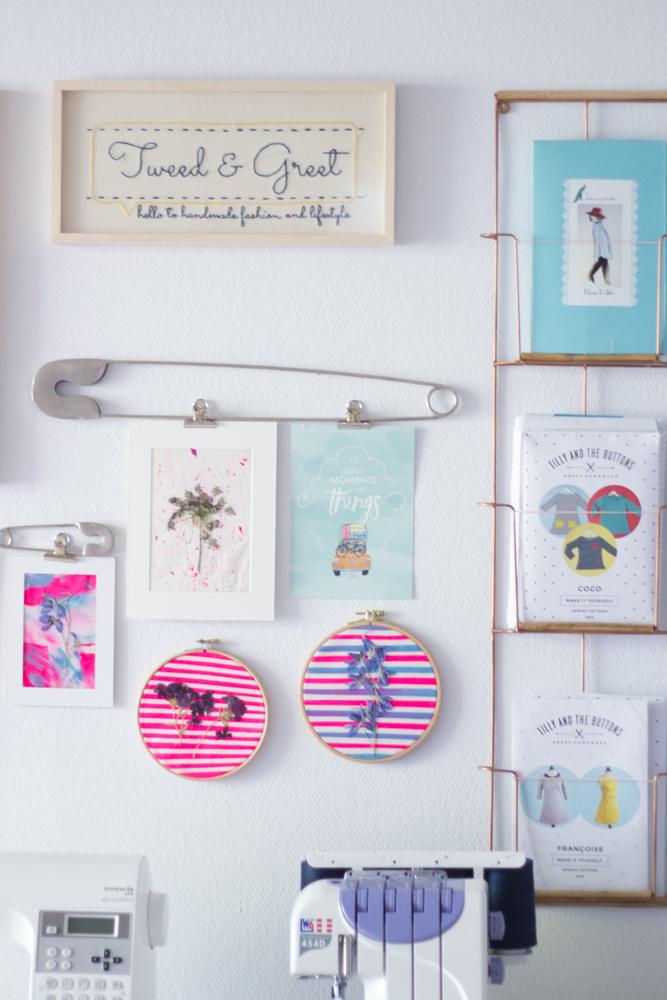 Nähzimmer Makeover und Tipps für den Nähplatz - Tweed and Greet