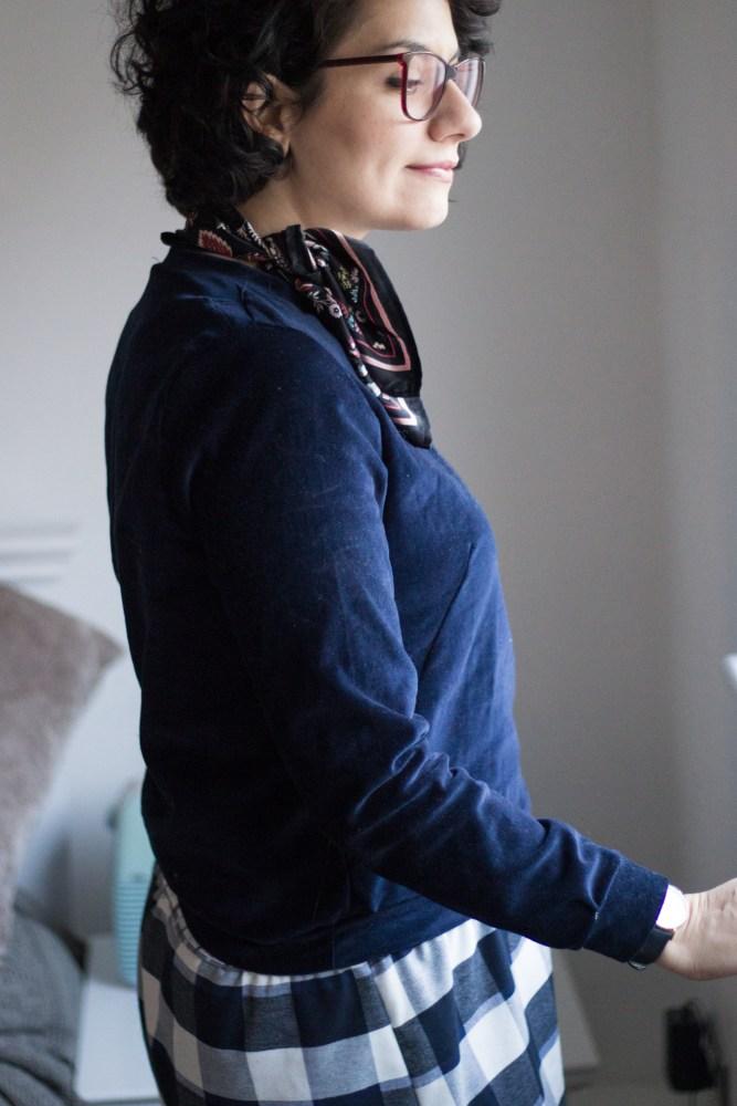 Sloane Sweater von named clothing aus Samt - Tweed & Greet