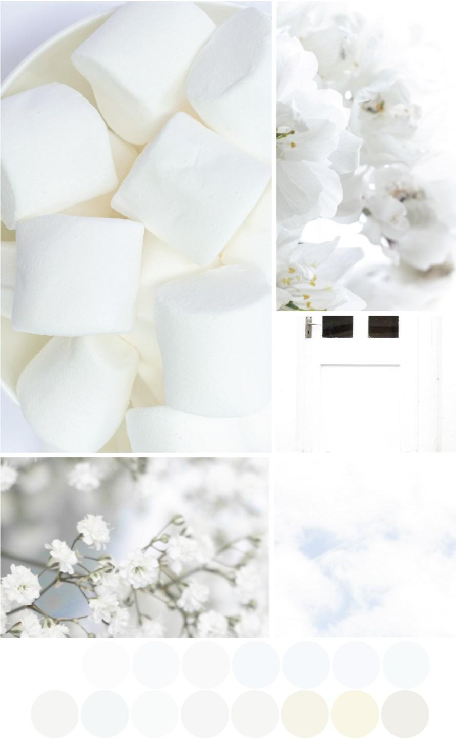 Farbkombinationen mit Weiß - Weißschattierungen - Tweed & Greet