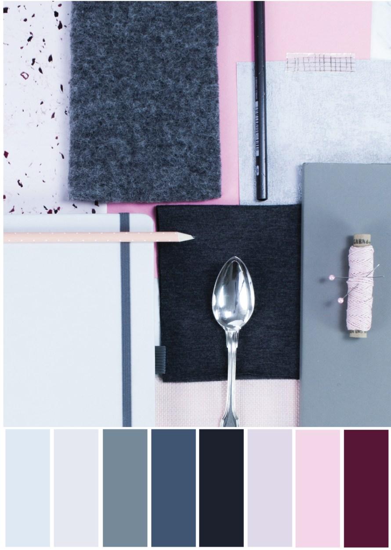 Farbpalette Grau-Rosa - Tweed & Greet