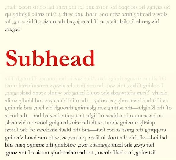 Subhead