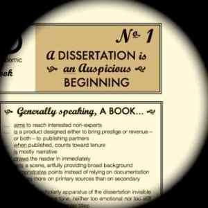 A Dissertation is an Auspicious Beginning