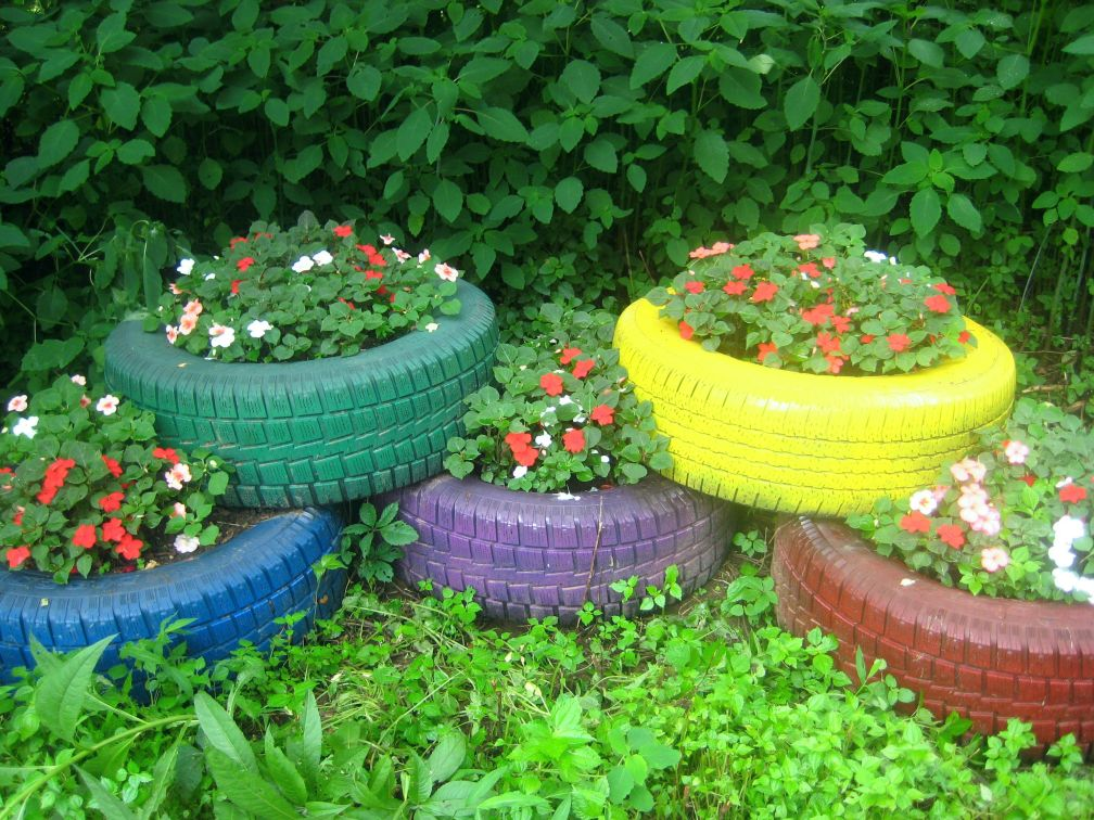 Upcycled tyres