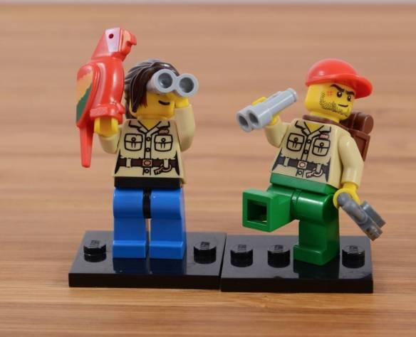 Lego Birding Audrey and Lego Outdoorsy Tomas