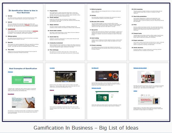 Gamification in Business List of Ideas Jenny Wilmshurst