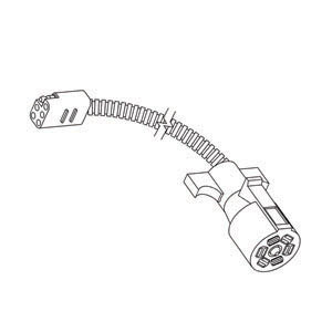 Rv Pigtails 40035 Trailer Conector, Adapter, 6-Square To 7