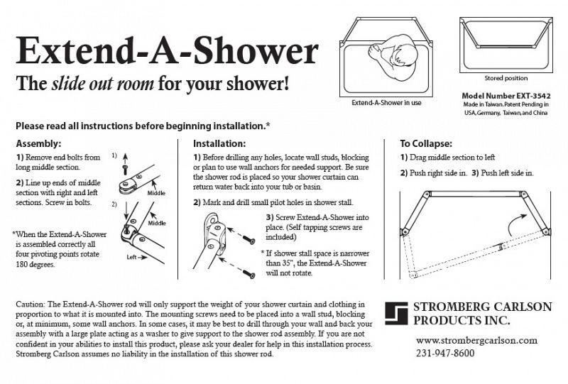 stromberg carlson extend a shower rv curtain rod drip rack