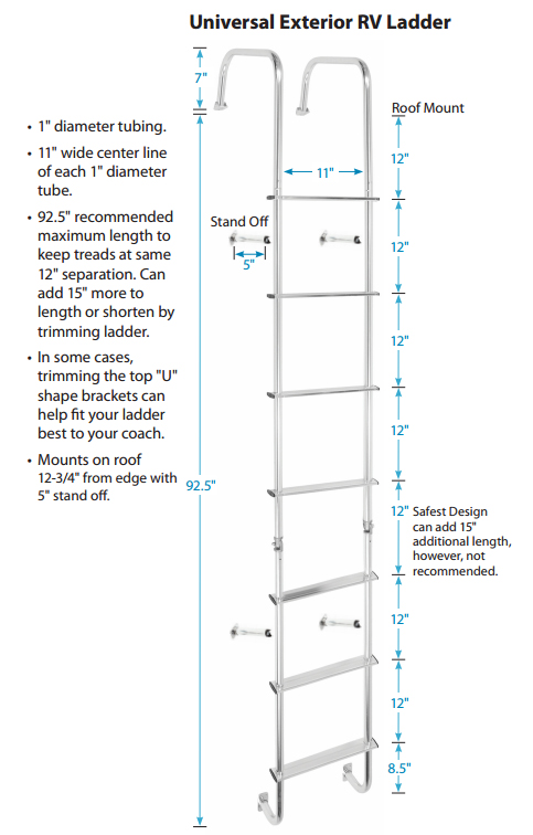 Universal Outdoor Rv Ladder