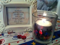 How fun to ponder of His plan for your life and light this fun birthday candle with happy confetti to honor you!