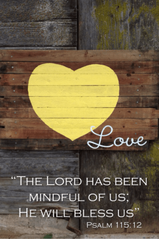 Yellow Heart/Love Psalm 115:12