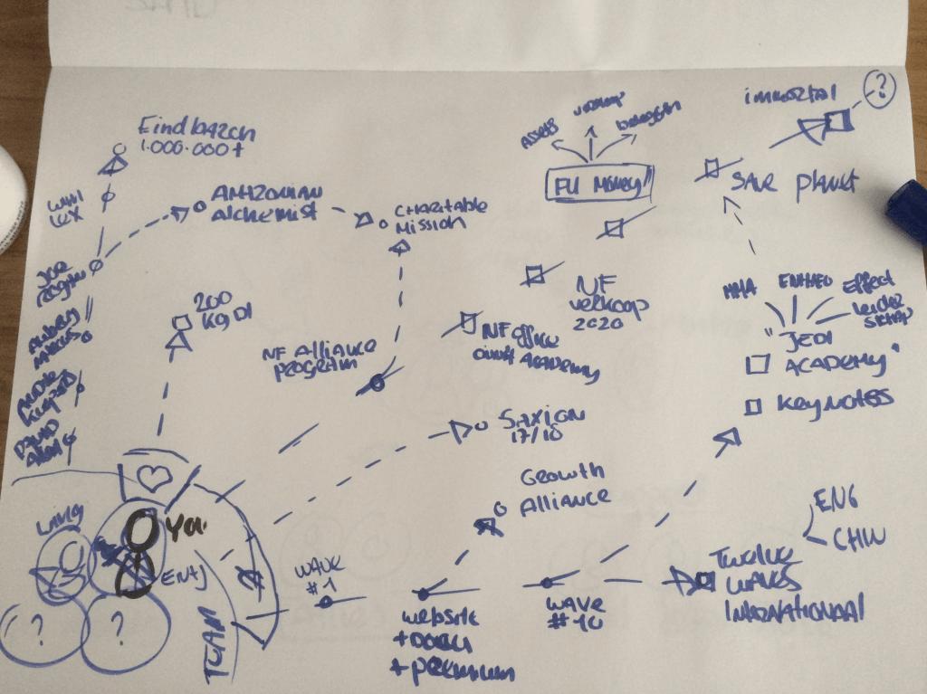Voorbeeld van een roadmap