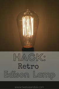 DIY Retro Edison Lamp