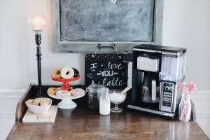 DIY Valentines Day Coffee Bar