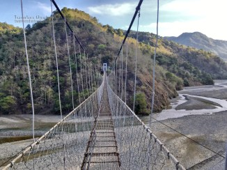 Stopover at Jangjang hanging bridge, Bokod, Benguet