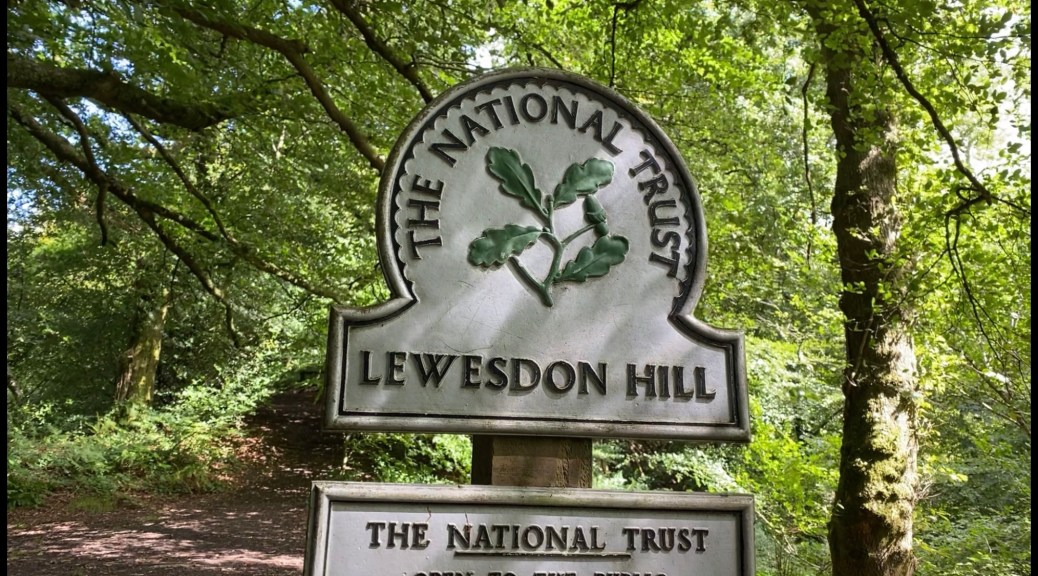 National Trust Lewesdon Hill Sign