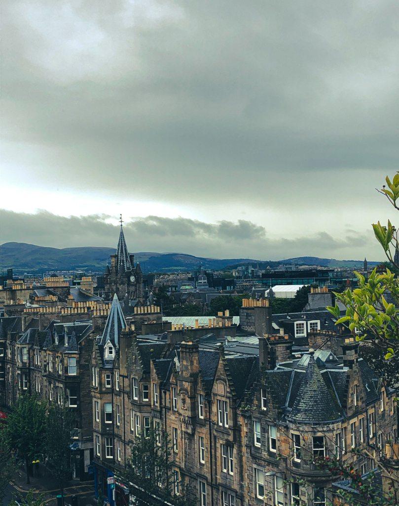 EDIMBOURG toits de la ville