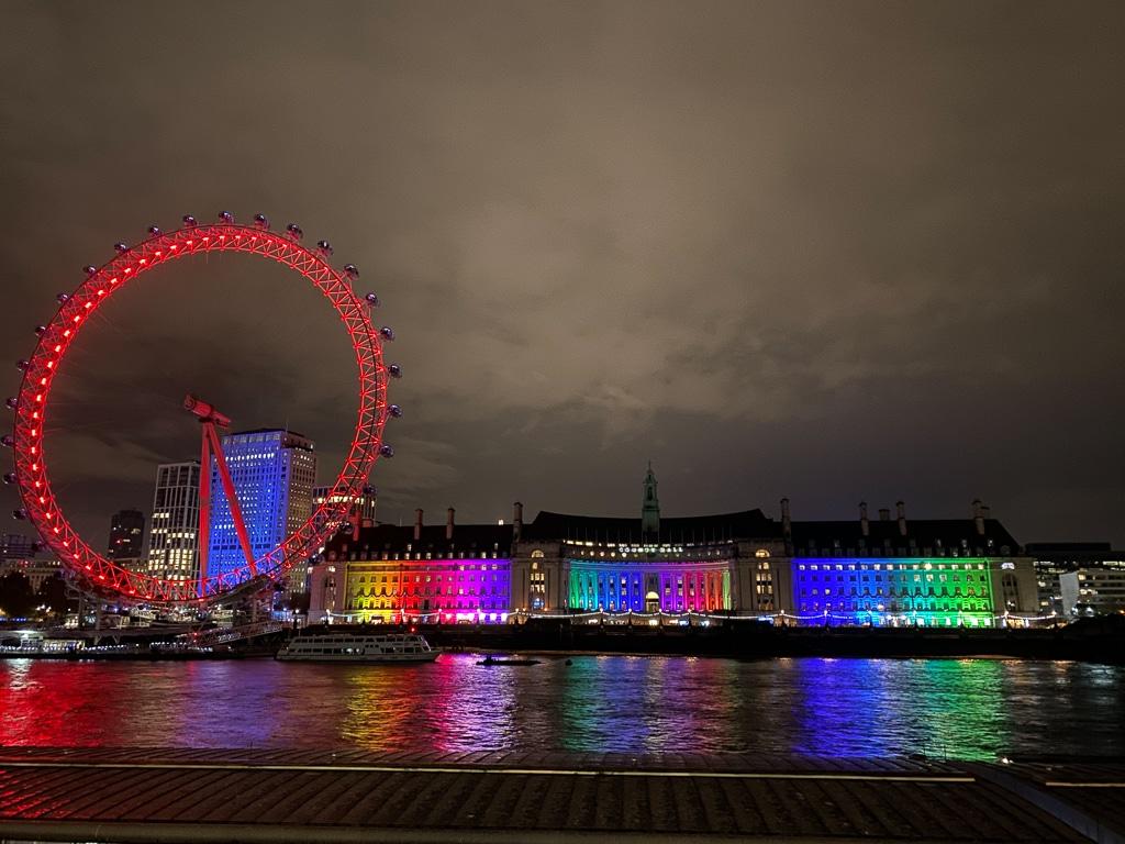 london eye by night