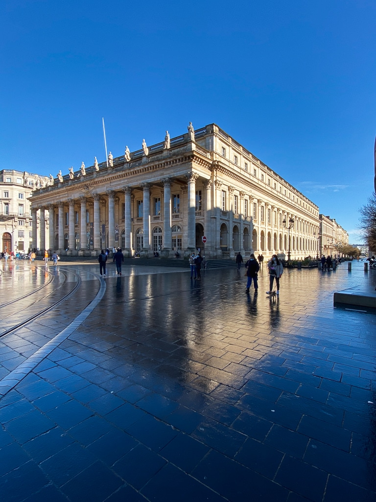 photo du grand théâtre de Bordeaux