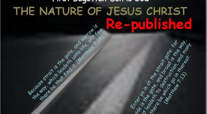 THE NATURE OF JESUS CHRIST