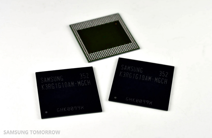 Samsung was the first to develop 8 GB LPDDR4 mobile RAM