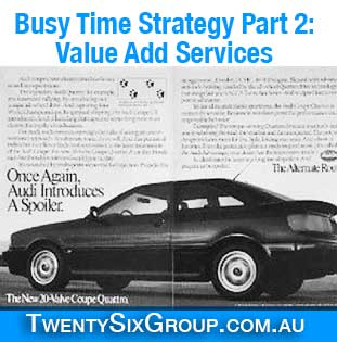 Optional extras become value add