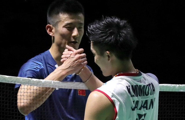 Chen Long and Kento Momota