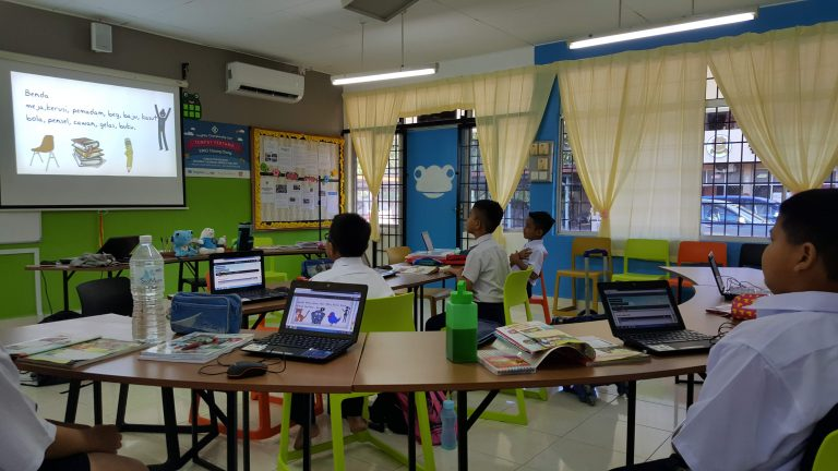 Frog VLE in a class