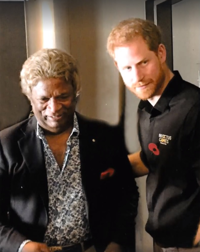 Kamahl and Prince Harry