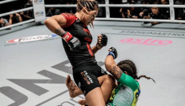 Angela Lee in action